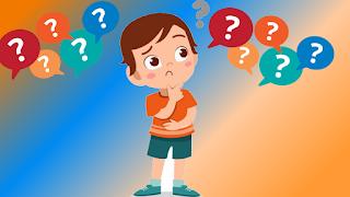 Imagem de um garoto com várias interrogações