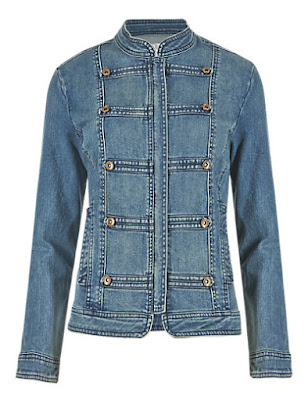 Marks and Spencer Bell Boy Style Denim Jacket
