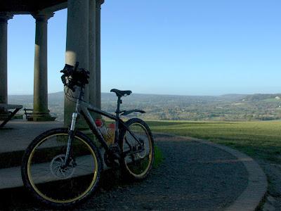 Reigate Hill. Mountain bike cycling