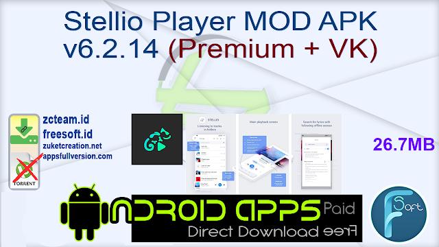 Stellio Player MOD APK v6.2.14 (Premium + VK)