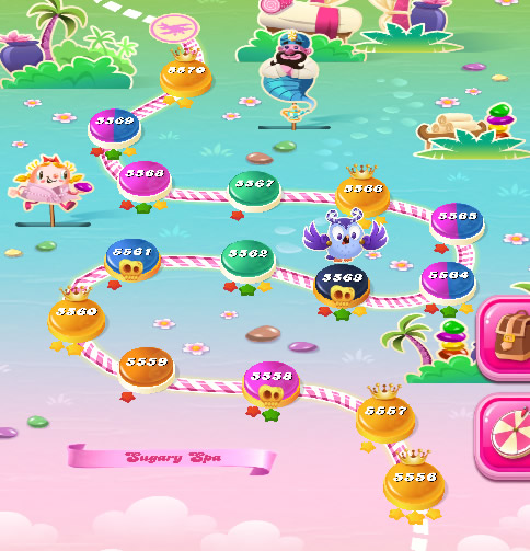 Candy Crush Saga level 5556-5570