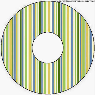 Green, Blue and Orange, Free Printable CD Label.