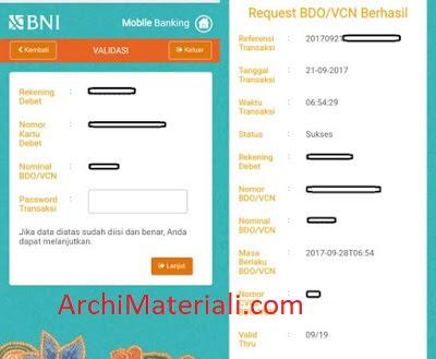 Cara Mudah Membuat Vcn Bni Dengan Mobile Banking Archi Materiali