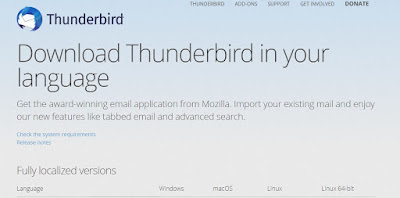 tips download bahasa thunderbird email