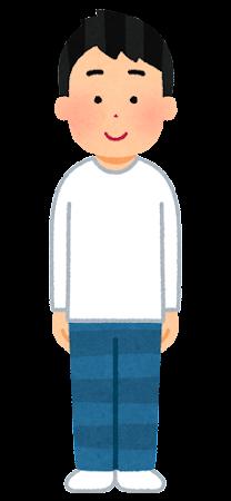 ロングTシャツを着た人のイラスト(男性)