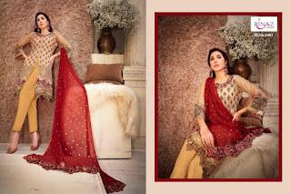 Rinaz fashion jasmin vol 5 Net work Pakistani Suits