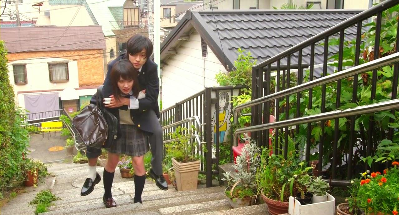 映画「L♥DK」の坂道のシーン