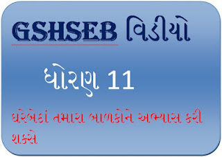 GSHSEB Video preparation for students std 11