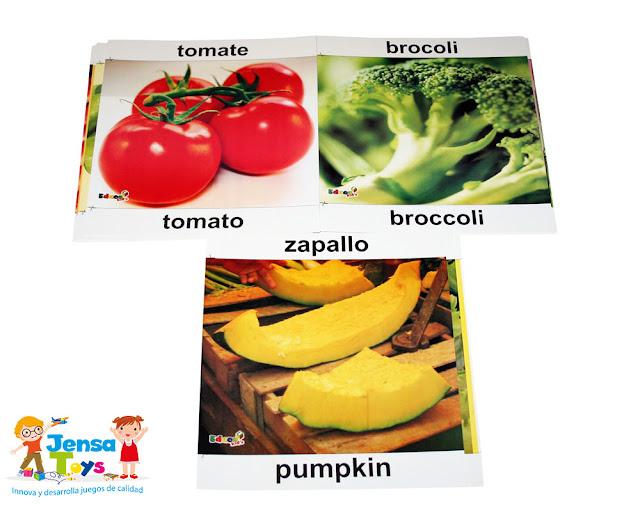 Flash Cards Verduras