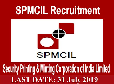 SPMCIL Recruitment 2019