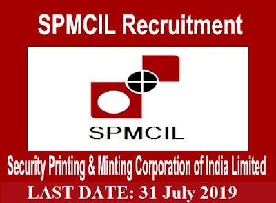 SPMCIL Recruitment 2019