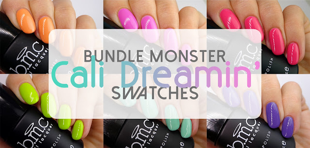 Bundle Monster Cali Dreamin' swatches