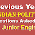 Previous Year Indian Polity Questions Asked in the SSC JE and CHSL Exams