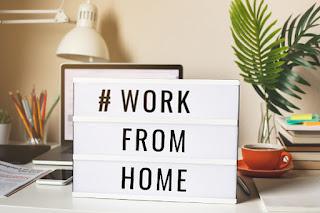Letrero que dice trabaja desde casa