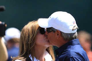 Fred Couples's girlfriend Midge Trammell