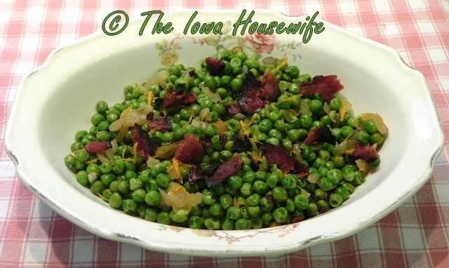 how to cook fresh peas out of the garden