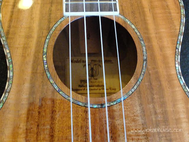 PSI-S-LEO II Tenor ukulele sound hole