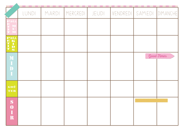 Weekly Meal Planner FR - Un Bout de Life
