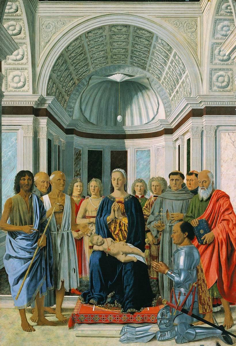 Piero della Francesca - Virgen del huevo - Palla de Urbino - Palla Brera