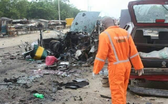 Graphic Photos from the scene of the bomb blast in Maiduguri