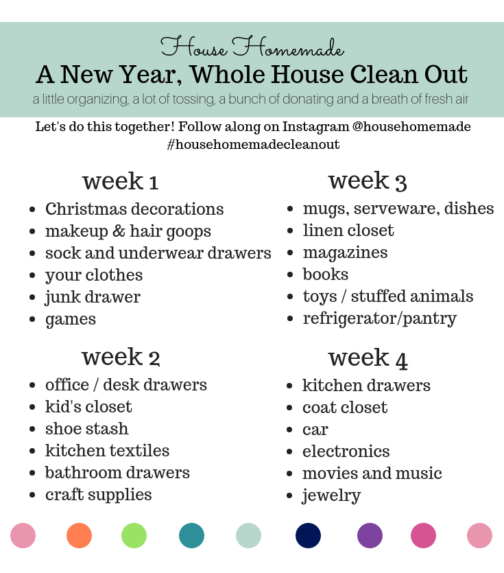 New Year, Whole House Cleanout II | House Homemade