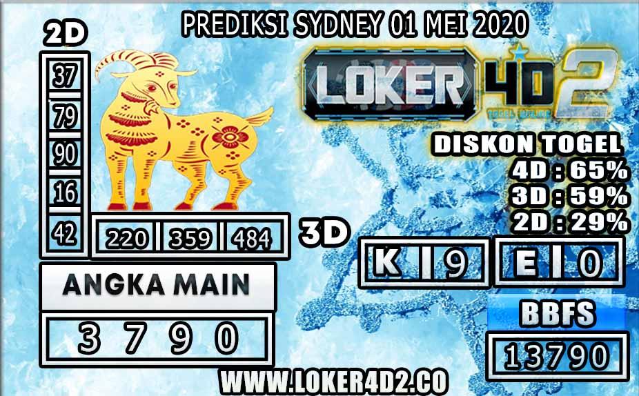 PREDIKSI TOGEL SYDNEY LOKER4D2 01 MEI 2020
