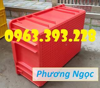 Thùng nhựa công nghiệp, thùng nhựa đặc B3, hộp nhựa đựng đồ cơ khí F58347b14ddfab81f2ce