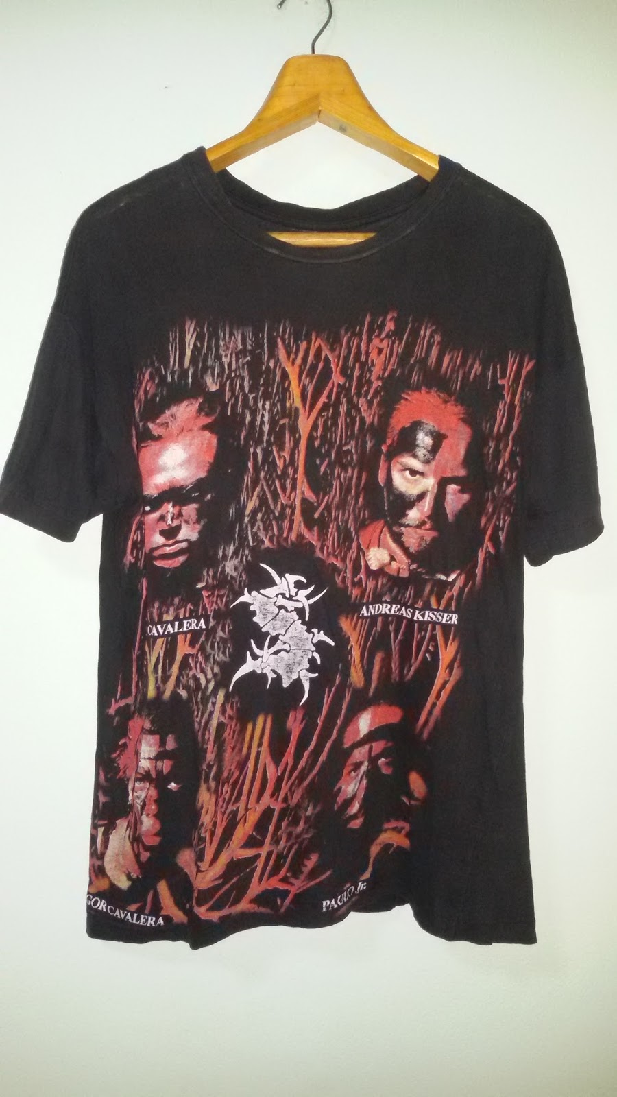 Switch Vintage Soldvintage Sepultura 80s Tshirt Band Members Line Tendencies 63 Iron Hitam S Up Paper Thin