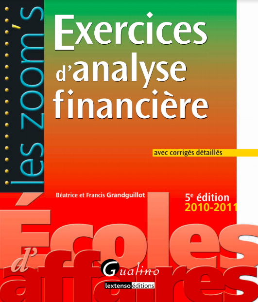 Exercices Analyse Financière