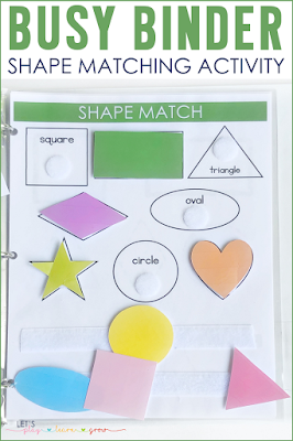 Shape Matching Busy Binder