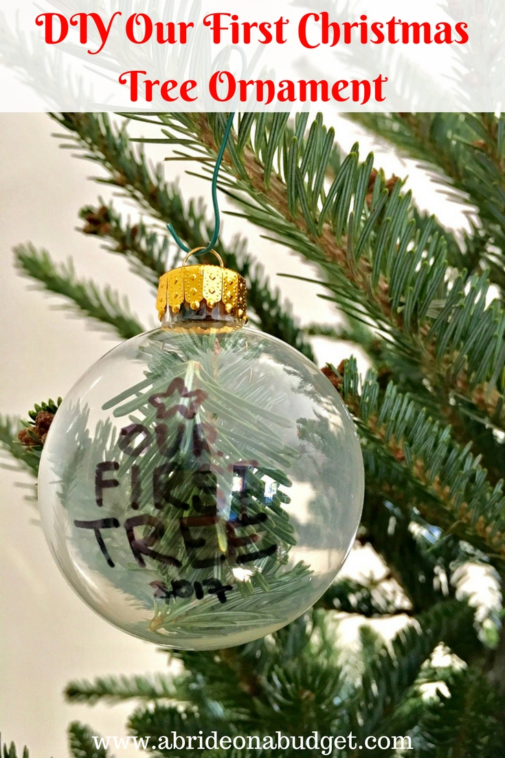 DIY Our First Christmas Tree Ornament | A Bride On A Budget