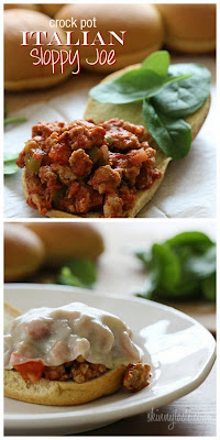 Crock Pot Italian Sloppy Joes from Skinnytaste found on SlowCookerFromScratch.com
