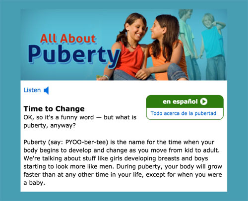What's puberty? Explanation for children