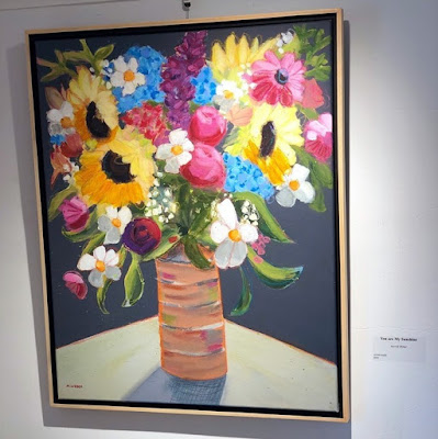Merrill Weber's floral paintings featured at Gallery 222 in Malvern, PA.