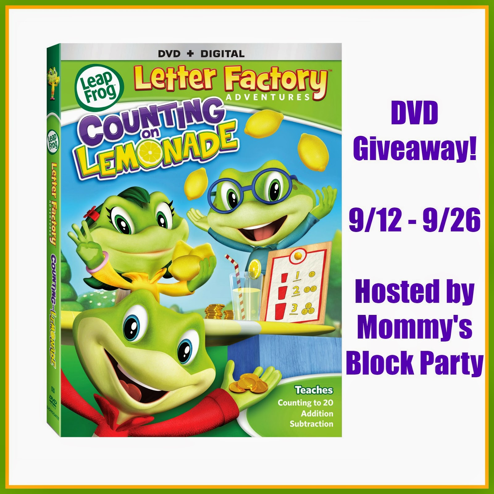 LeapFrog Letter Factory Adventures Counting on Lemonade DVD Review