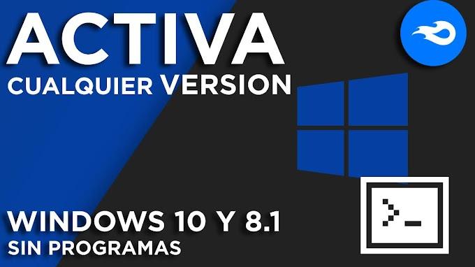 ✅ | DESCARGAR  ACTIVA CUALQUIER VERSION DE WINDOWS 10 Y 8.1 SIN PROGRAMAS - 2020