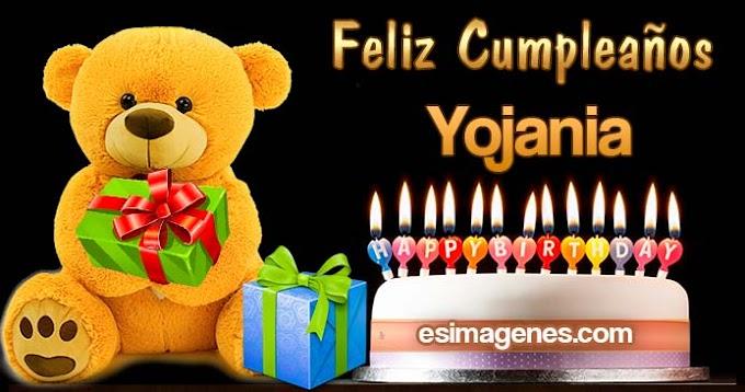 Feliz cumpleaños Yojania