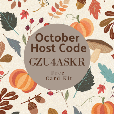 October Host Code GZU4ASKR - fall card kits are my gift to you with any size order!  Shop with Nicole Steele