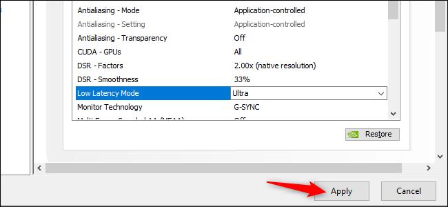 تنشيط وضع التوقف المنخفض للغاية في برامج تشغيل الرسومات GeForce من NVIDIA