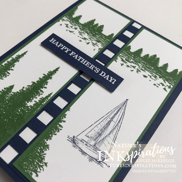 By Angie McKenzie for the Crafty Collaborations Father's Day Blog Hop; Click READ or VISIT to go to my blog for details! Featuring the Mountain Air, Sailing Home and Best Year Stamp Sets by Stampin' Up!; #occasioncards #fathersdaycards #fathersday #masculine #handmadecards #stamping #20212022annualcatalog #mountainairstampset #sailinghomestampset #bestyearstampset #casualstamping #naturesinkspirations #makingotherssmileonecreationatatime #cardtechniques #stampinup #stampinupink #scrapcardstockstrips