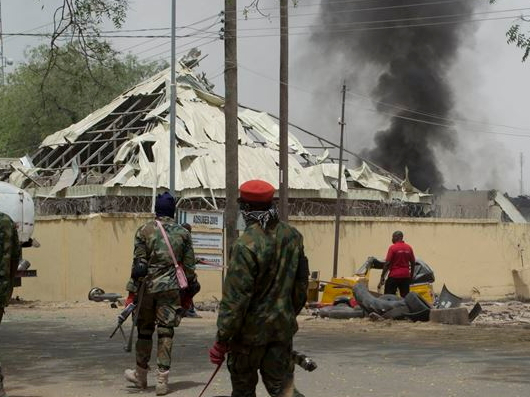 female suicide bomber attack maiduguri mosque today