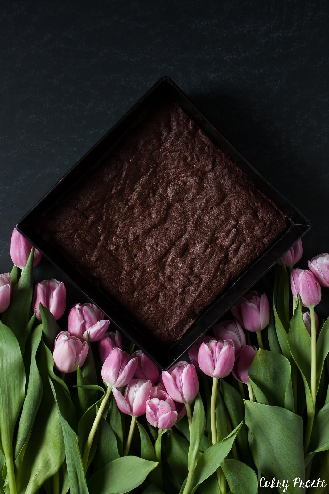 Brownie z rabarbarem