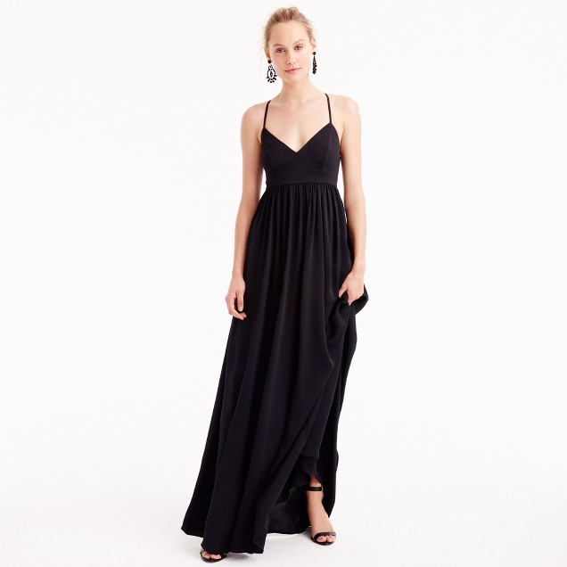 J Crew long drapey spaghetti strap dress