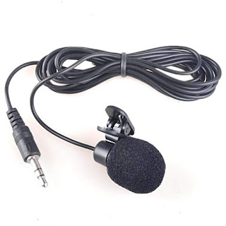 Mic External Laptop Handphone Komputer 3.5mm Microphone with Clip On