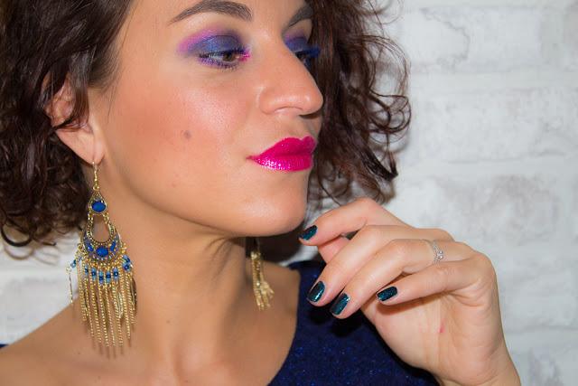 Mon maquillage Marine et Fuchsia