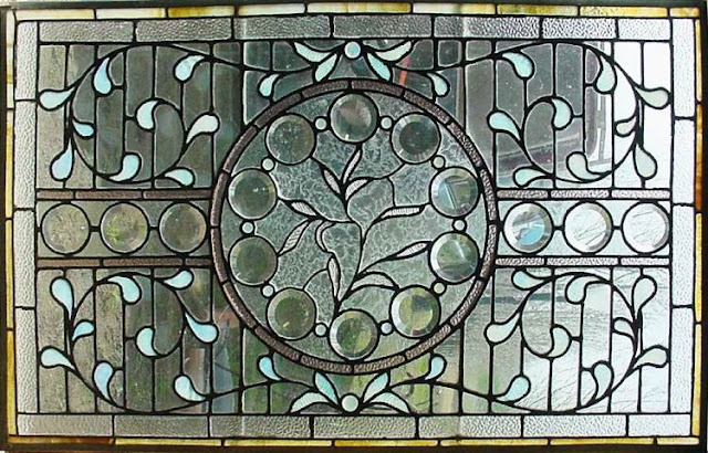 Antique Stained GLASS WINDOW Panels