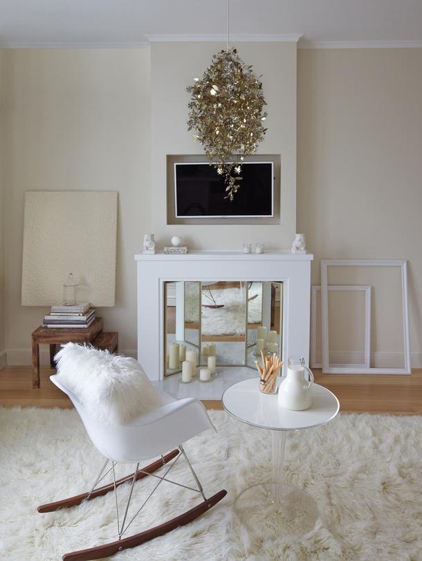34 m2 de lujo femenino en mosc ministry of deco - Chimenea blanca decorativa ...