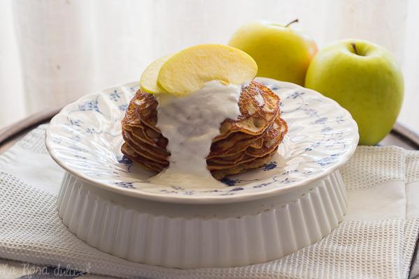 Tortitas de manzana y avena #sinlactosa #singluten #realfood