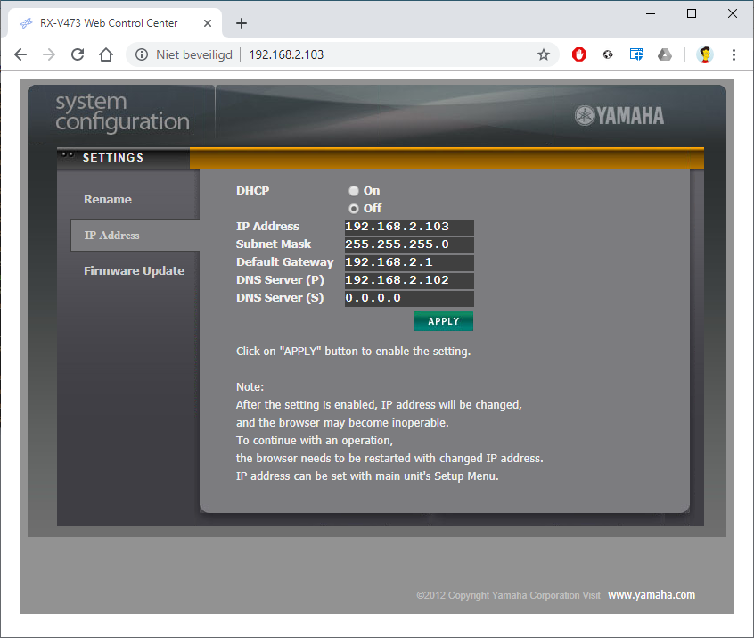 PC1MH techlog: How to vtuner alternative for Yamaha