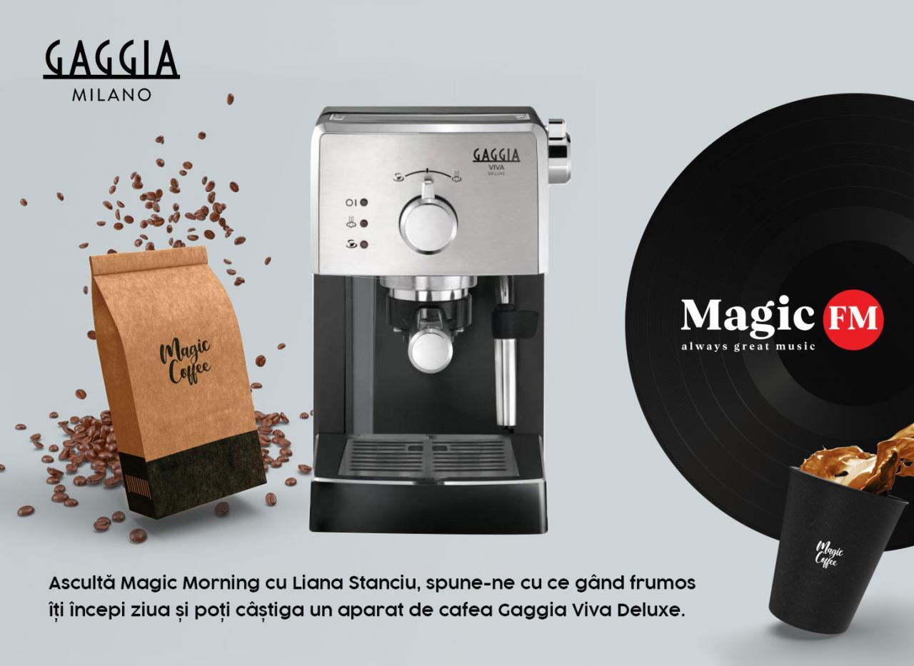 Concurs Magic FM - Castiga aparat de cafea Gaggia VIVA DELUXE - castiga.net